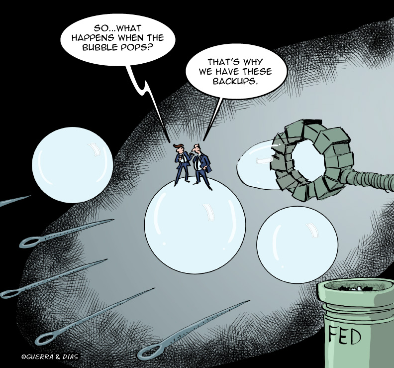 The Fed blowing bubbles