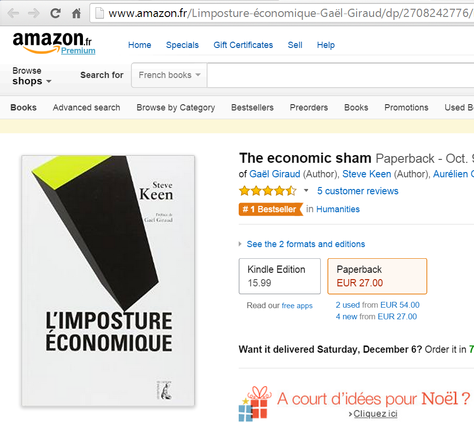KeenImpostureAmazonRank1stInHUmanities20141204