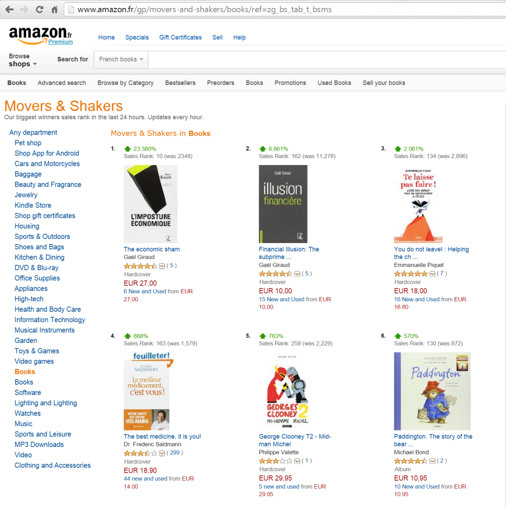 KeenImpostureAmazonRank1stMovers20141204